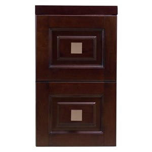 "American Imaginations Flair Modular Drawer - 11.75"" x 22"" - Wood - Brown"