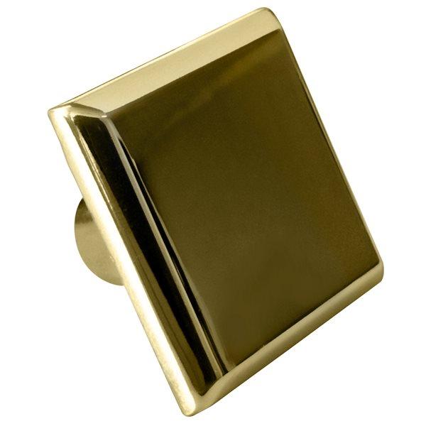 """Bouton d'armoire, carré, 1,2"""", doré"""