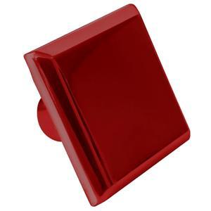 Bouton d'armoire, carré, 1,6