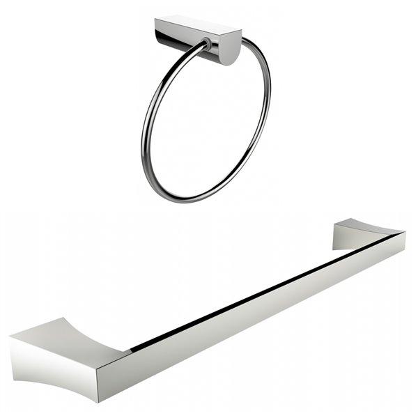 American Imaginations Towel Ring - Single Rod Towel Rack Set