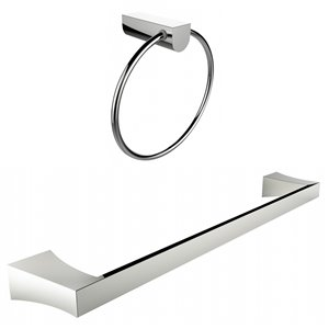 American Imaginations Towel Ring - Single Rod Towel Rack Set