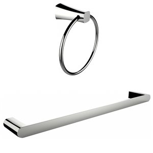 American Imaginations Single Rod Towel Rack Accessory Set