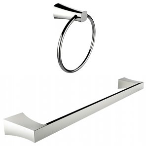 American Imaginations Towel Rack Accessory Set - Chrome
