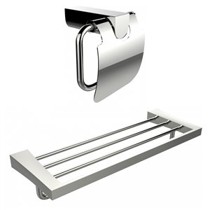American Imaginations Toilet Paper Holder with Multi-Rod Towel Rack Accessory Set