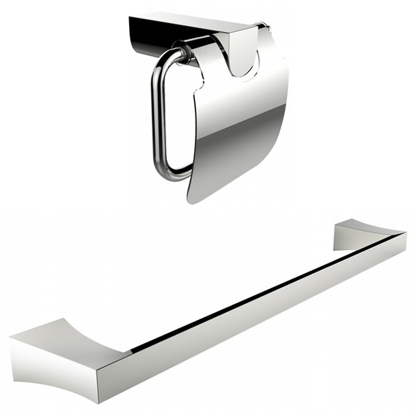 American Imaginations Toilet Paper Holder - Single Rod Towel Rack Set