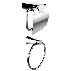 American Imaginations Toilet Paper Holder Set - Brass - Chrome