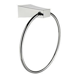 American Imaginations Towel Ring - Brass - Chrome