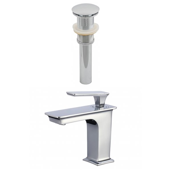 "Faucet Set - Single hole - 4.1"" - Brass - Chrome"