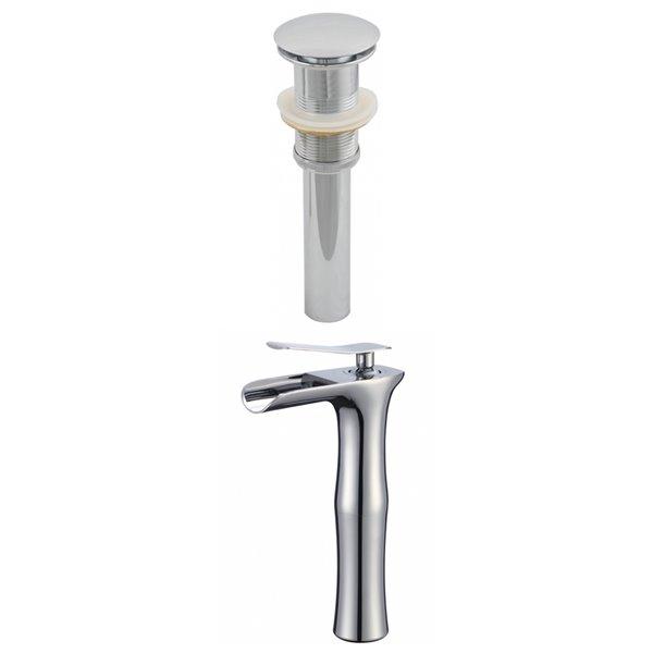 """Ensemble de robinet, 1 trou, 9,5"""", chrome"""