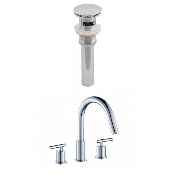 "Ensemble de robinet, répandu, 9,44"", laiton, chrome"