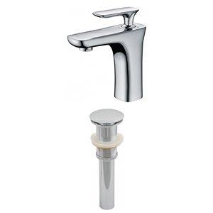 "Ensemble de robinet, 1 trou, 4,62"", laiton, chrome"