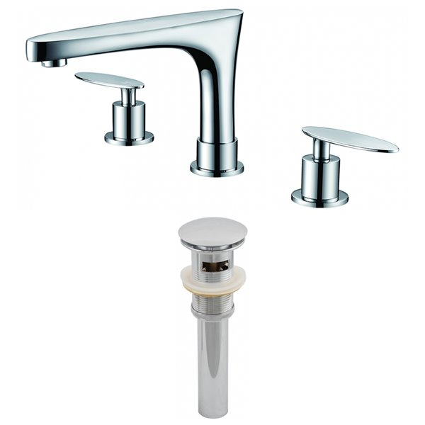 "Ensemble de robinet, répandu, 5,39"", chrome"