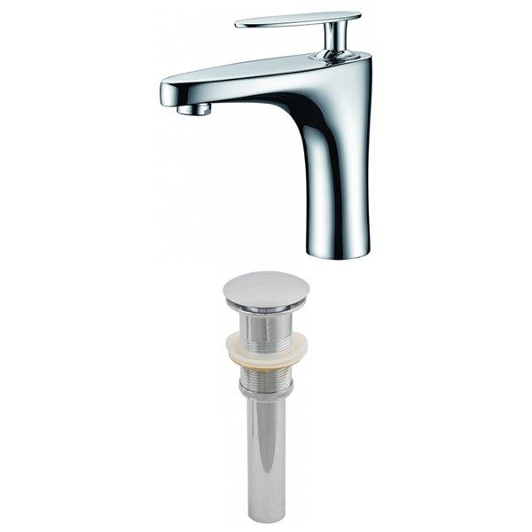 """Ensemble de robinet, 1 trou, 4,73"""", chrome"""