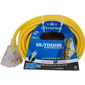 UltraFlex Extension Cord - 3 Outlets - 125 Volts