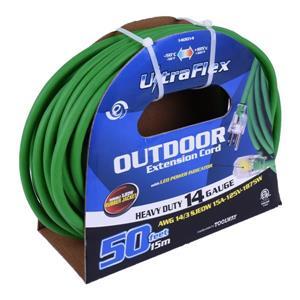 Rallonge Électrique UltraFlex, 1 prise, 125 volts, vert