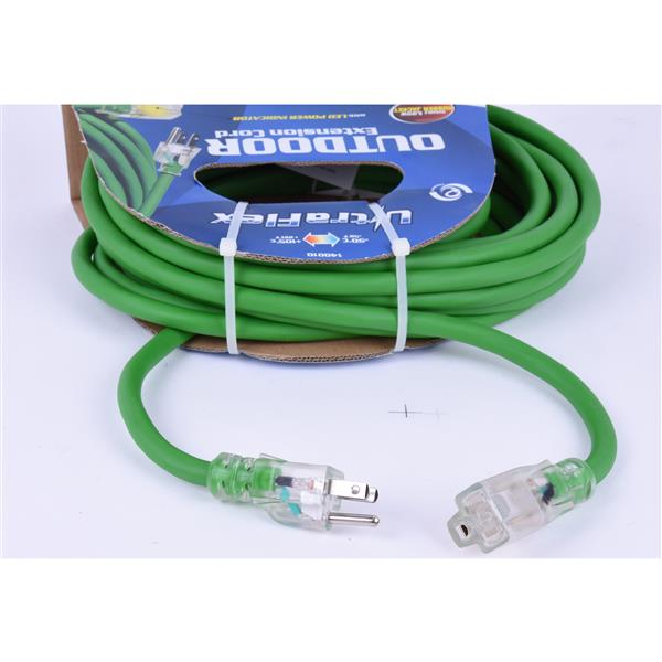 Toolway Extension Cord - 30 Feet - 1 Outlet - 125 Volts - Green