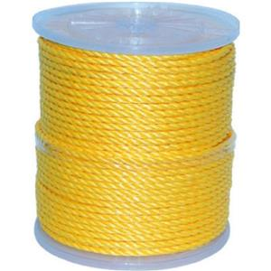 Twist Rope - 125 Feet - Polypropylene - Yellow