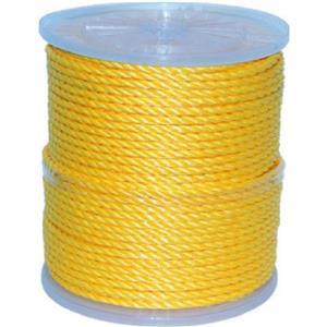 Corde torsadée, 1310 pieds, polypropylène, jaune