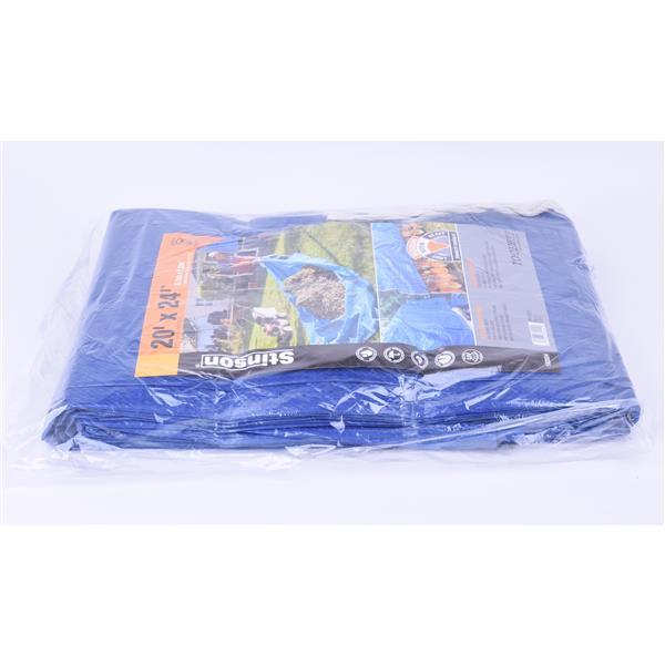 Toolway Tarpaulin - 20-ft x 24-ft - Polyethylene - Blue