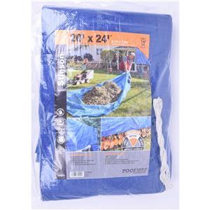 Bâche, 20' x 24', polyéthylène, bleu