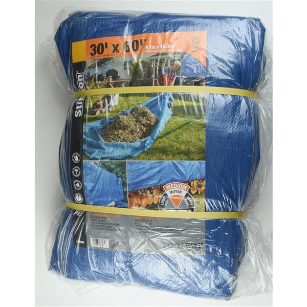 Toolway Tarpaulin - 30-ft x 60-ft - Polyethylene - Blue