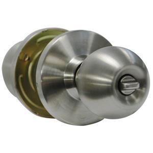 """Poignée à bouton tournant verrouillable, 2,75"""", chrome"""