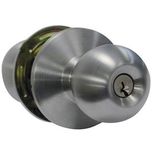 Classroom Door Lock - Cylindrical - Chrome