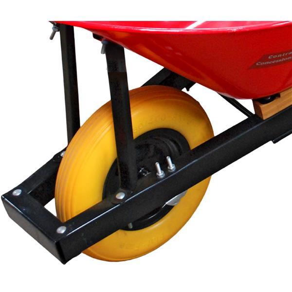 Brouette avec pneu Pro yard, 6', acier, rouge