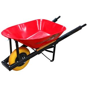 Pro Yard Wheel Barrow - 6' - Steel - Red