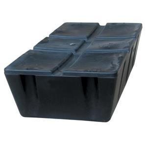 Flotteur de quai en mousse Howell, 2' x 4', noir