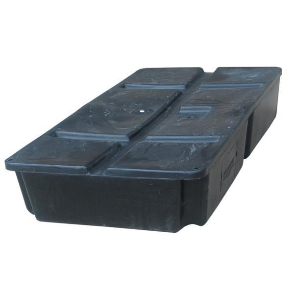 Dock Edge + Howell Foamed Dock Float - 2' x 4' - Black
