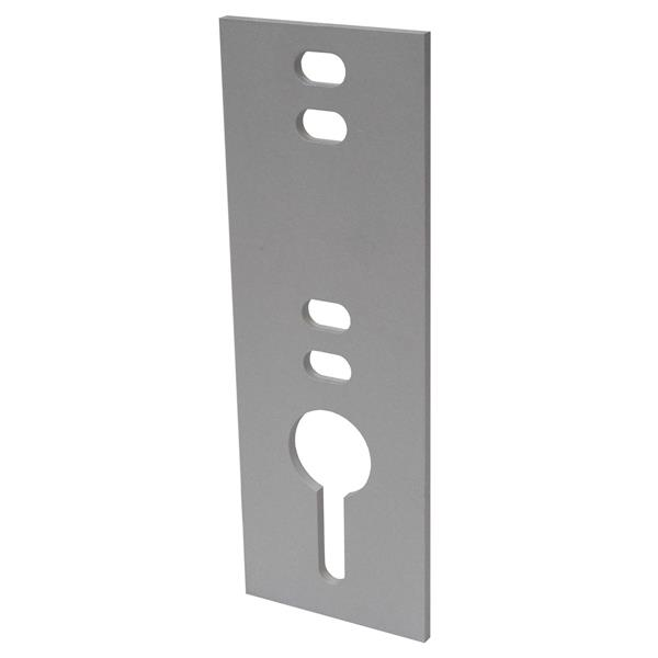 "Dock Edge + Chain Plate - 0.5"" - Metal - Gray"