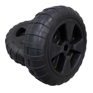 "Dock Edge + Rolling Dock Wheel - 24"" - Polyethylene - Black"