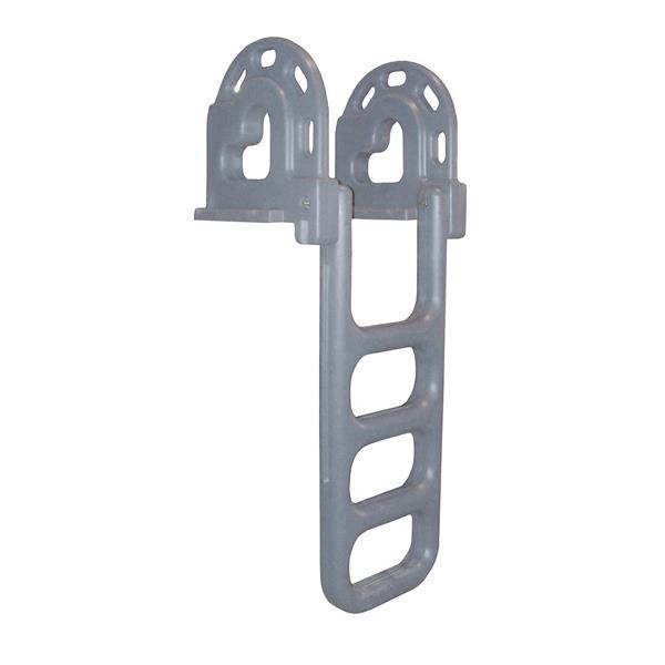 Dock Edge + Dock Ladder - 4 Steps - Polyethylene - Gray