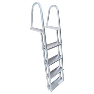 Stand Off Dock Ladder - 4 Steps - Aluminum - Gray