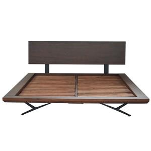 CDI Furniture Streamline Natural Wood Dark Finish King Bed