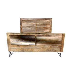 CDI Furniture Shutter Natural Wood Medium Finish King Bed