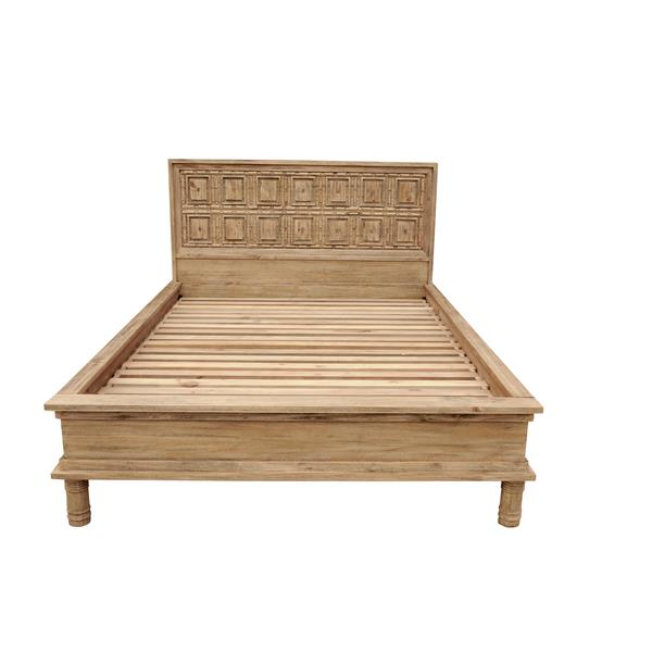 CDI Furniture Sand Natural Wood Light Finish Queen Bed