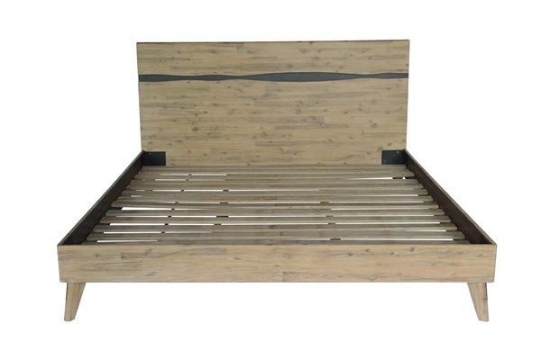 CDI Furniture Orson Natural Wood Medium Finish King Bed