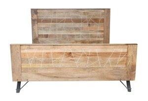CDI Furniture Mosaic Natural Wood Medium Finish King bed