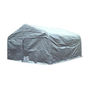 Large Double Car Shelter 20' x 16' - Grey colour