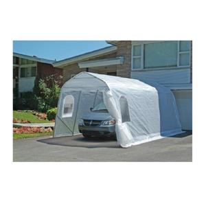 Gazebo Penguin Single Car Shelter 11' x 16' - Clear colour