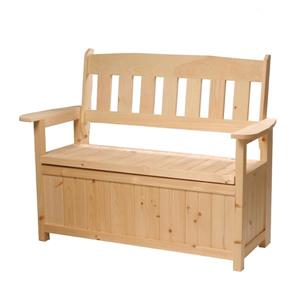 Country Comfort Chairs Cape Cod Garden Storage Bench - Pine