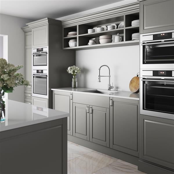 VIGO Stainless Steel Kitchen Sink - Grid/Strainer - 23-in x 20-in