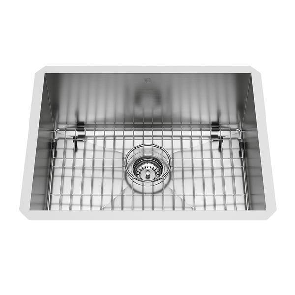 Évier en acier inoxydable, grille/crépine, 23'' x 18''