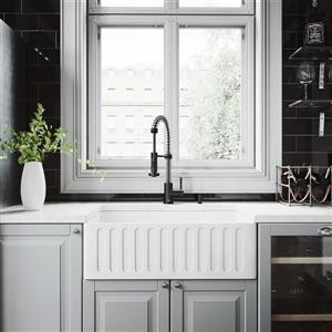 Matte Stone Farmhouse Kitchen Sink - 30''