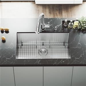 Kitchen Sink - With Grid And Strainer - 30''