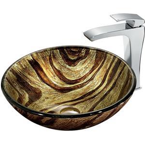 Ensemble de vasque de salle de bain et robinet, Zebra