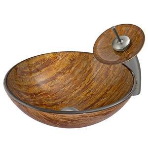 Ensemble de vasque de salle de bain et robinet, ambré