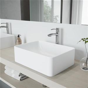 Robinet pour vasque de salle de bain chromé Milo